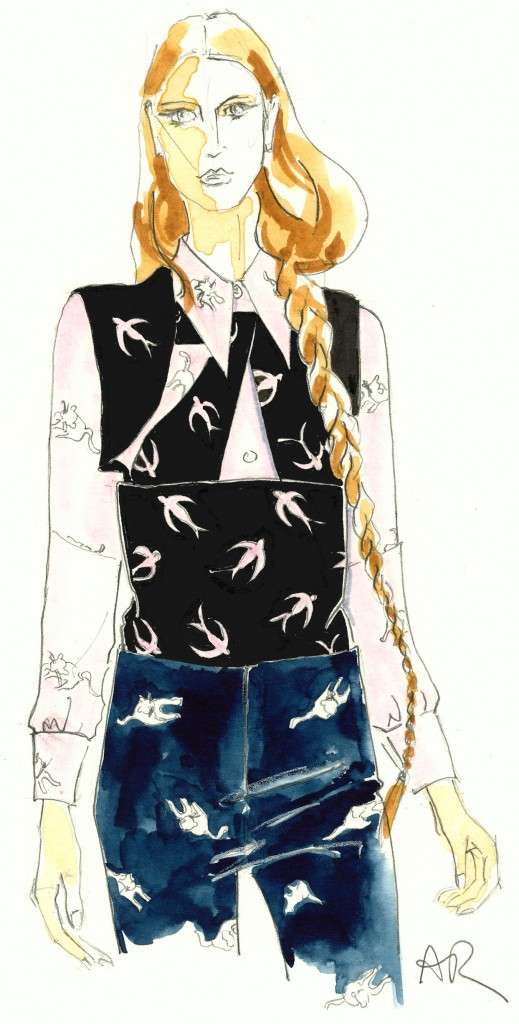 Miu Miu cat fashion illustration
