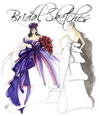 Wedding Fashion Illustrations
