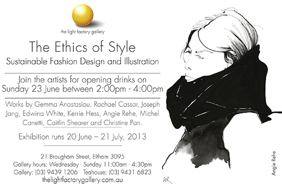 Patsyfox an illustrated fashion blog by angie rhe exhibition invitation angie rehe stopboris Gallery
