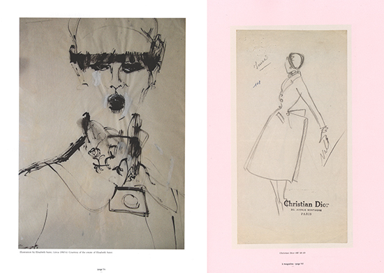 A magazine Dior fashion illustrations