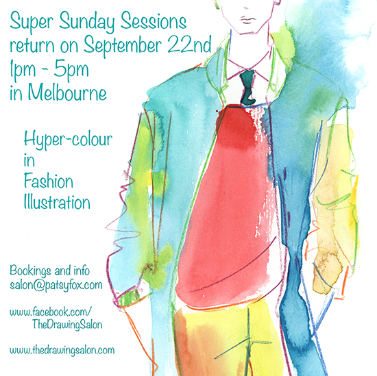 Fashion Illustration classes in hyper-colour
