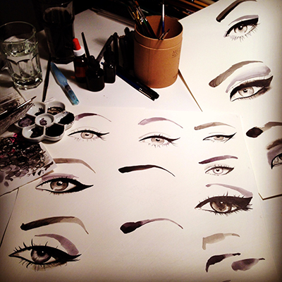 Loreal _eyeliner_illustrations