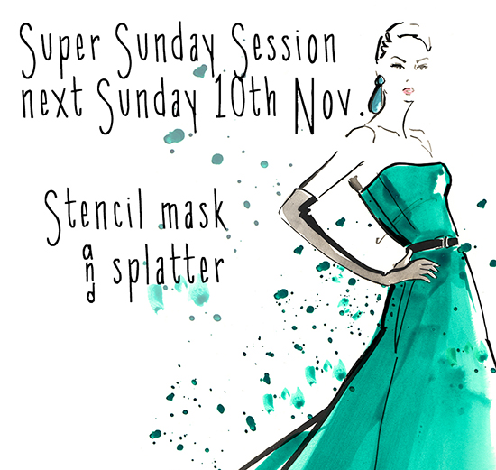 Stencil and mask Fashion illustration class