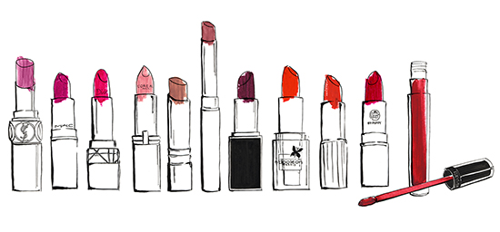 Elle lipstick fashion illustrations