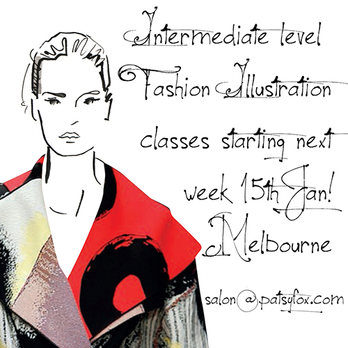 Fashion Illustration classes Melbourne