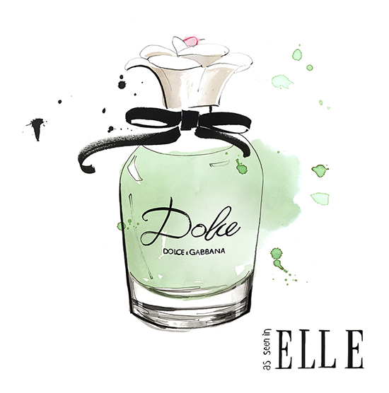 Elle_magazine_Dolce_&_Gabbana_fragrance_illustration