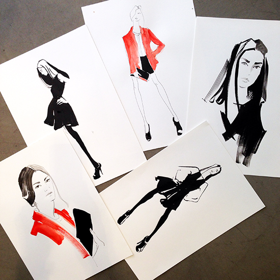 live_model_fashion_illustration_classes_melbourne