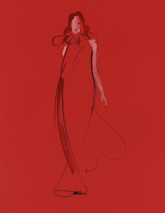 red_dress_gouache_paint_fashion_illustration_classes