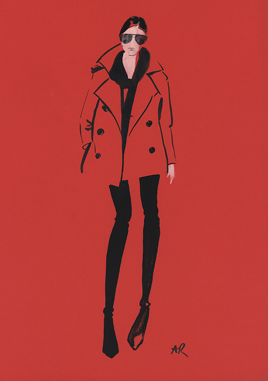 Red_coat_fashion_illustration_classes_Melbourne