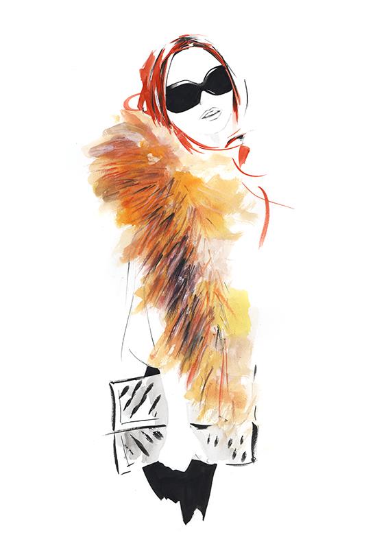 Melbourne_fashion_illustration_classes_fur_demonstration