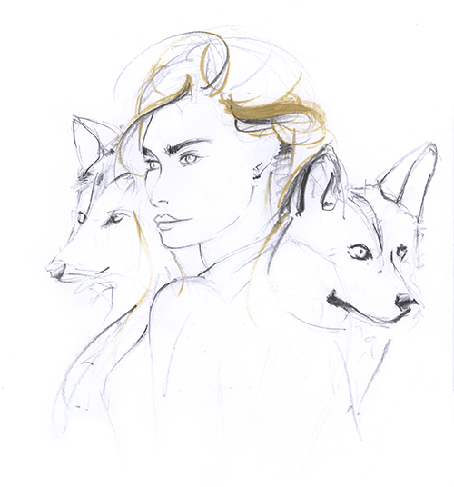 wolf_fashion_drawing_demonstration