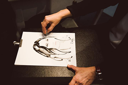 Mimco_live_fashion_portrait_sketches_Lindy_Klim