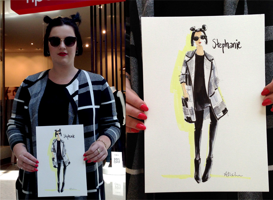 Westfield_Live_drawing_fashion_illustration_portraits