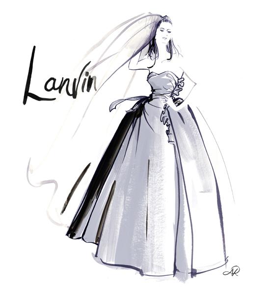 Le_Louvre_Lanvin_silver_wedding_dress_fashion_illustration