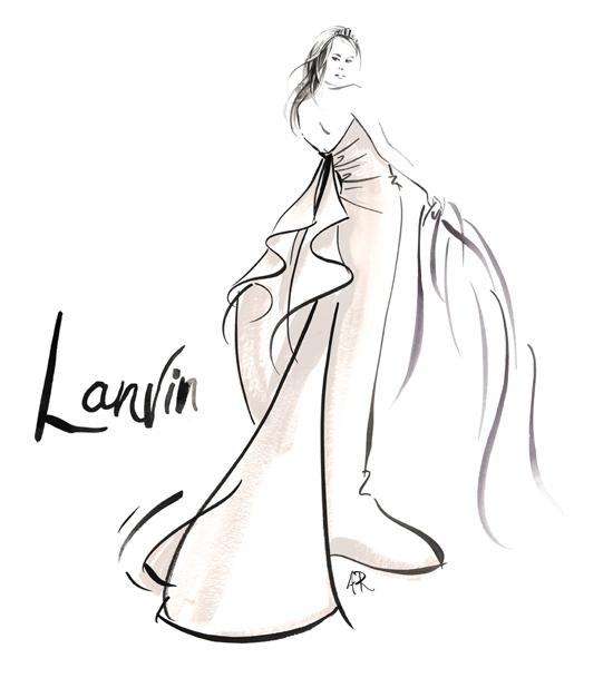 Le_Louvre_Lanvin_wedding_dress_fashion_illustrator