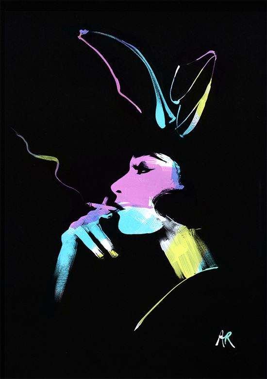 Angie_Rehe_Rainbow_Bunny_fashion_illustration_on_black
