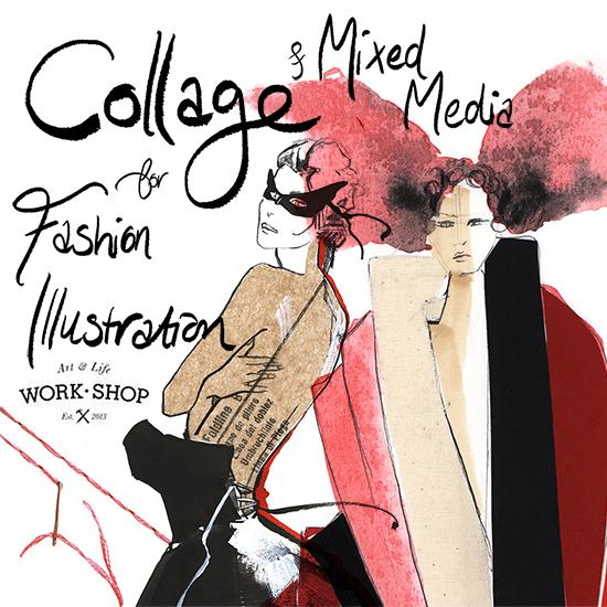 Fashion-illustration-collage-class-Melbourne