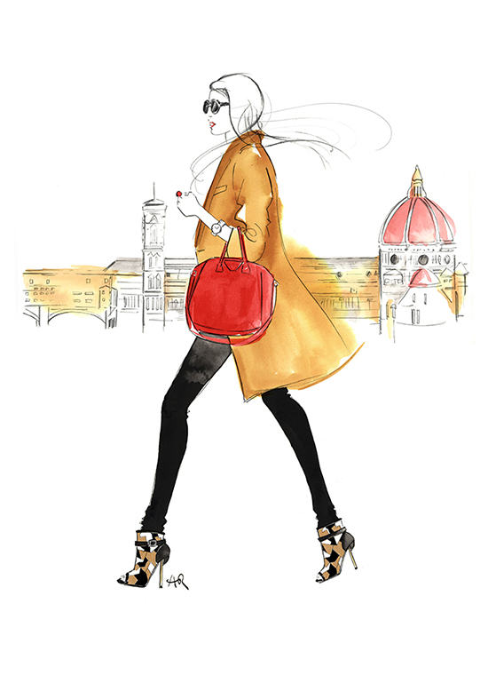 Florence_girl-walking_fashion_illustration_Melbourne