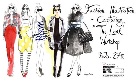 fashion_illustration_classes_Melbourne_the_look