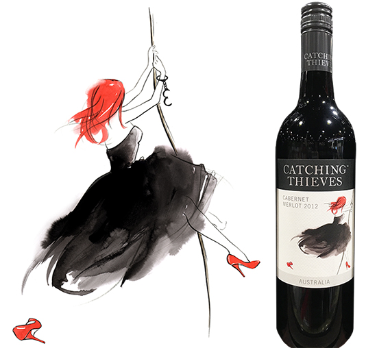 Catching_thieves_wine_label_illustration