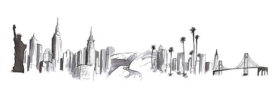New_York_West_coast_skyline_drawing