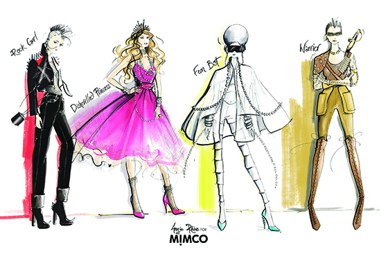 Mimco_Muses_fashion_illustrations