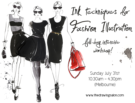 Ink-fashion-illustration-classes-Melbourne