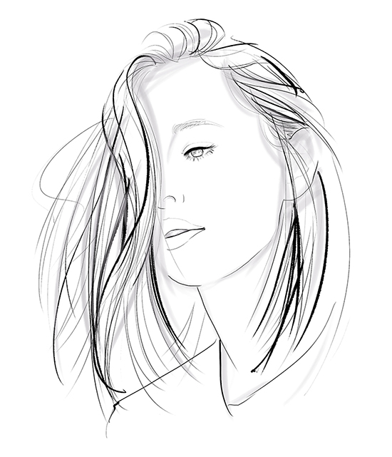 Portrait-Sketch-line-art