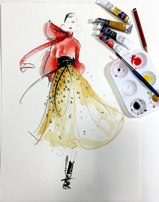 Leopard-print-watercolour-fashion-illustration
