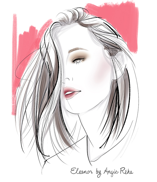 Portrait-Sketch-beauty-fashion-illustration