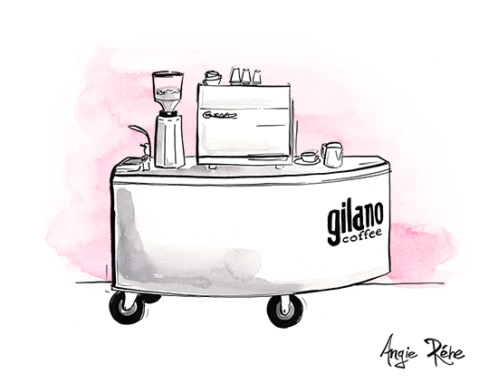 Gilano_Coffee_Cart_watercolour_illustration