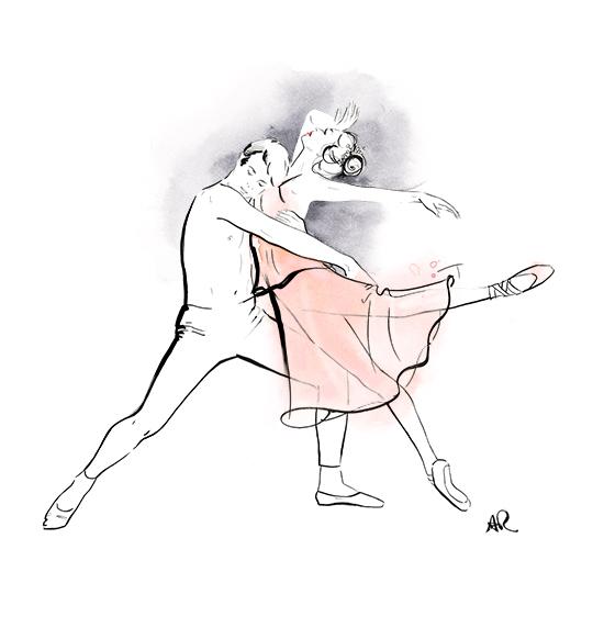 Queensland-ballet-wine-label-illustration