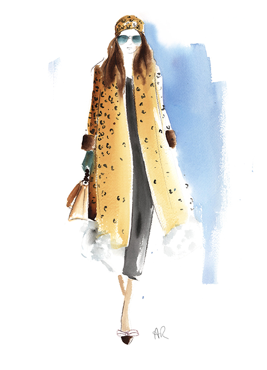 Gucci_runway_leopard_print_coat_fashion_illustration
